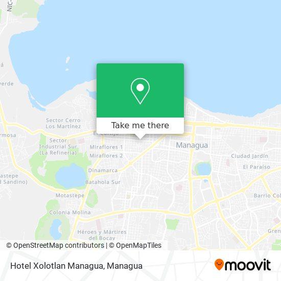 Hotel Xolotlan Managua map