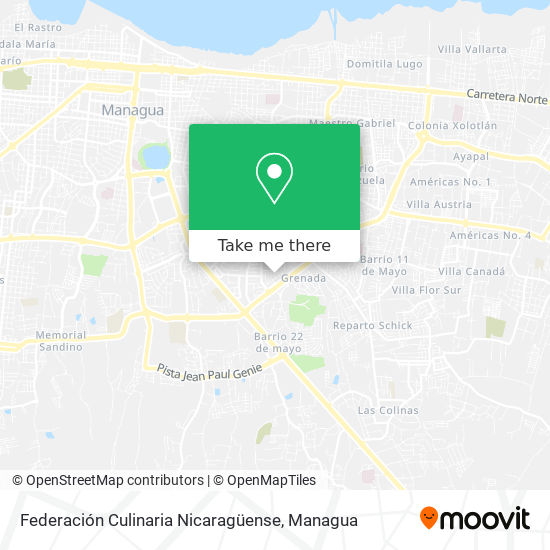 Federación Culinaria Nicaragüense map