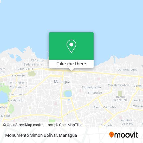 Monumento Simon Bolivar map