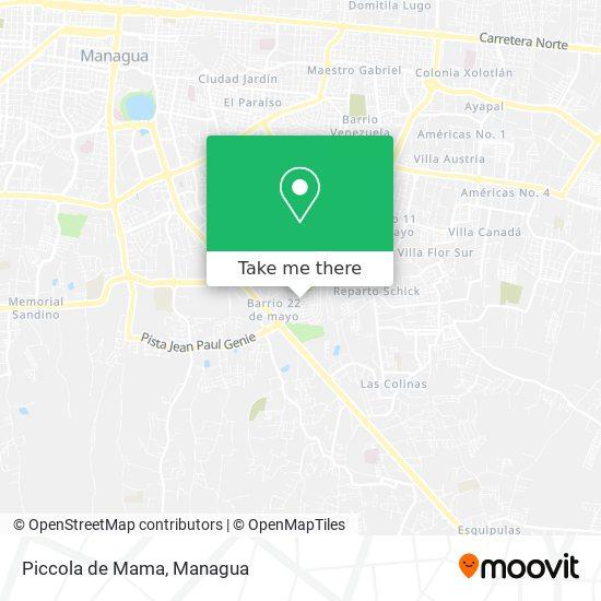 Piccola de Mama map