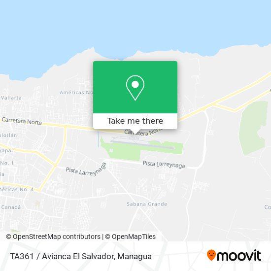 TA361 / Avianca El Salvador map