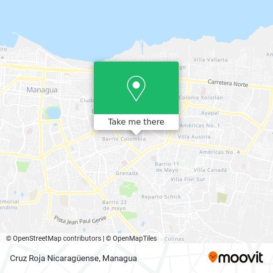Cruz Roja Nicaragüense map