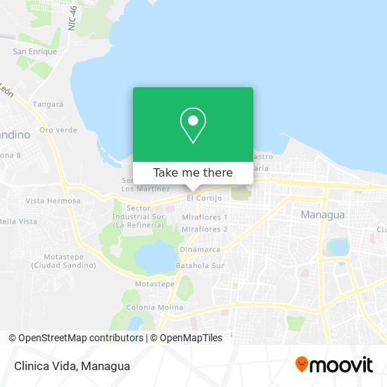 Clinica Vida map