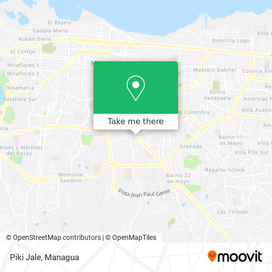 Piki Jale map