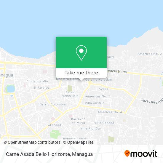 Carne Asada Bello Horizonte map