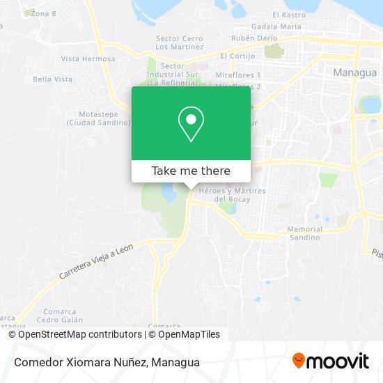 Comedor Xiomara Nuñez map
