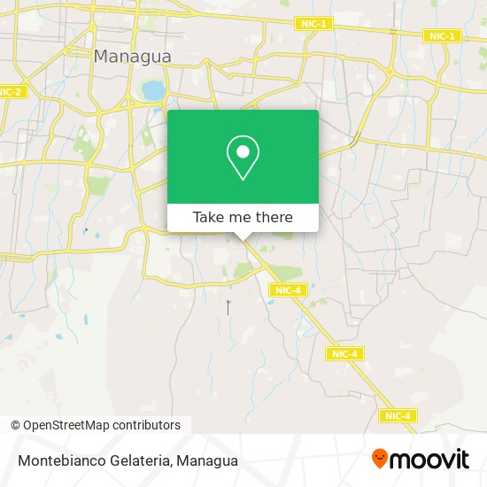 Montebianco Gelateria map