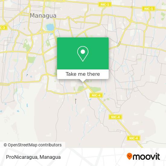 ProNicaragua map