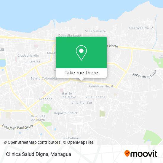 Clinica Salud Digna map