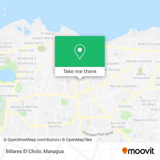 Billares El Cholo map