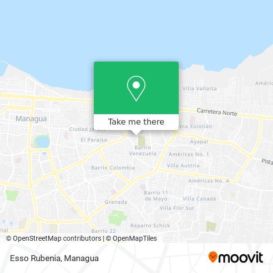 Esso Rubenia map