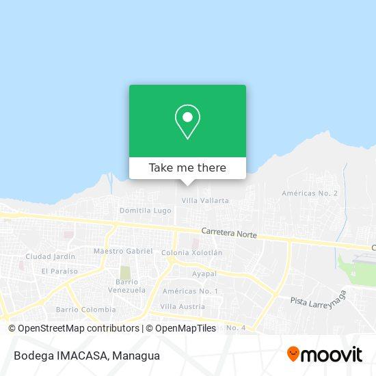 Bodega IMACASA map