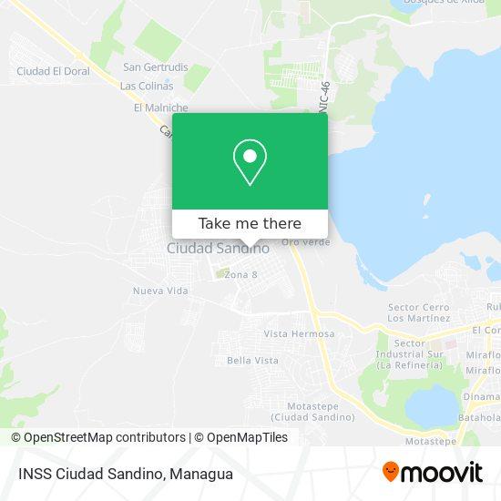 INSS Ciudad Sandino map