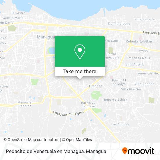 Pedacito de Venezuela en Managua map