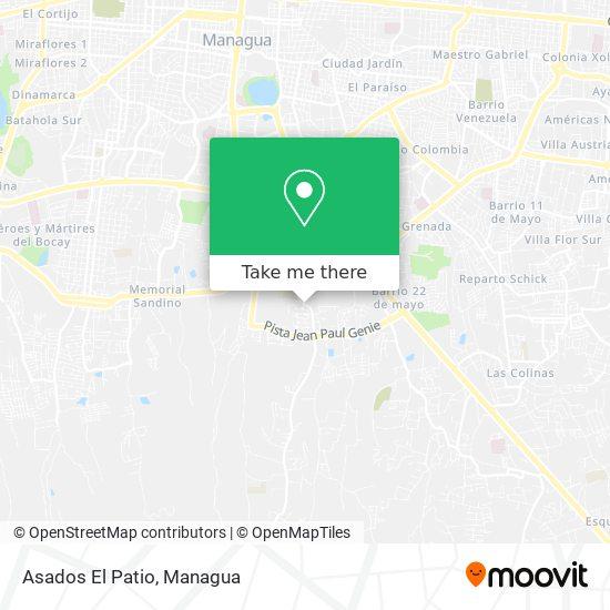 Asados El Patio map