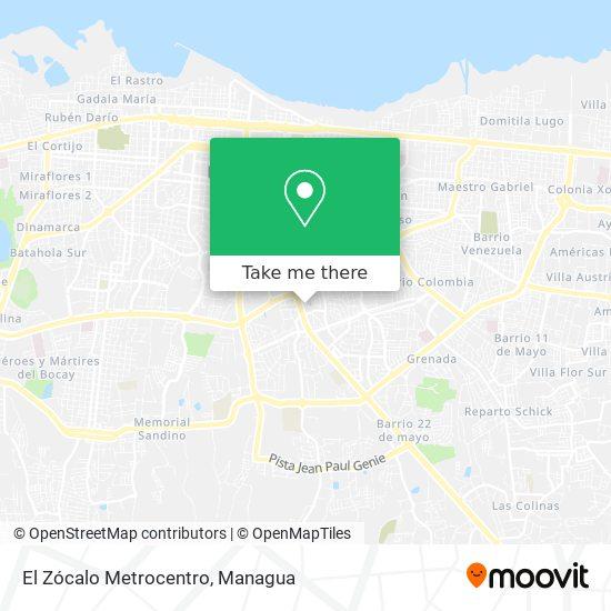 El Zócalo Metrocentro map