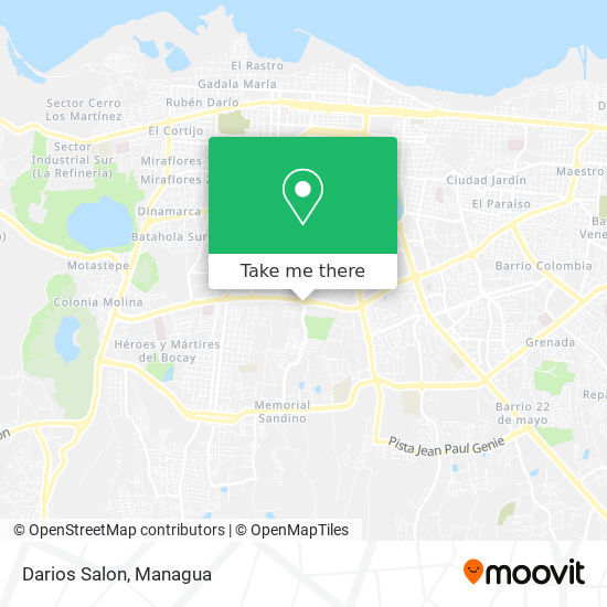 Darios Salon map