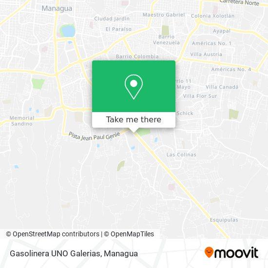 Gasolinera UNO Galerias map