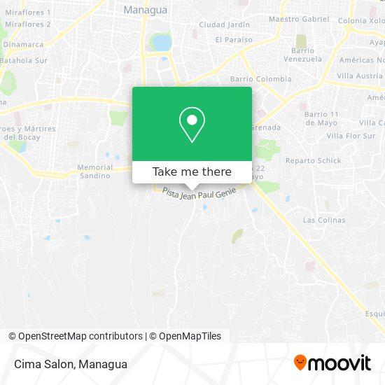 Cima Salon map