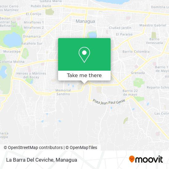 La Barra Del Ceviche map