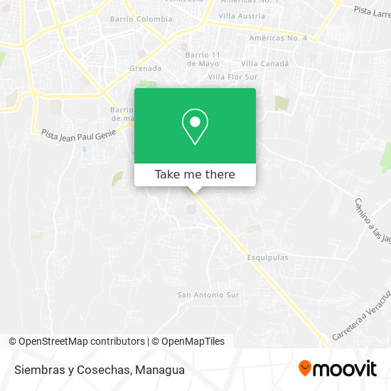 Siembras y Cosechas map