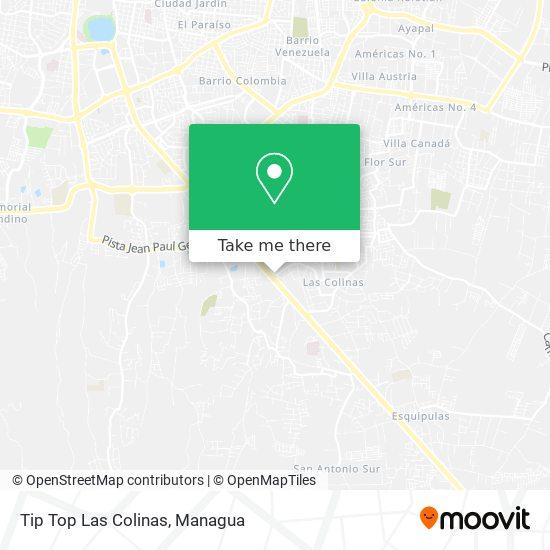 Tip Top Las Colinas map