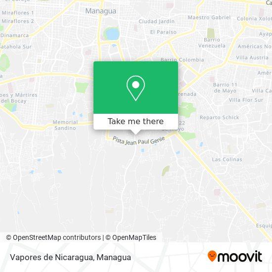 Vapores de Nicaragua map