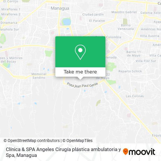 Clínica & SPA Angeles Cirugía plástica ambulatoria y Spa map