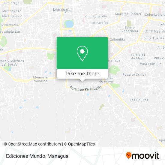 Ediciones Mundo map