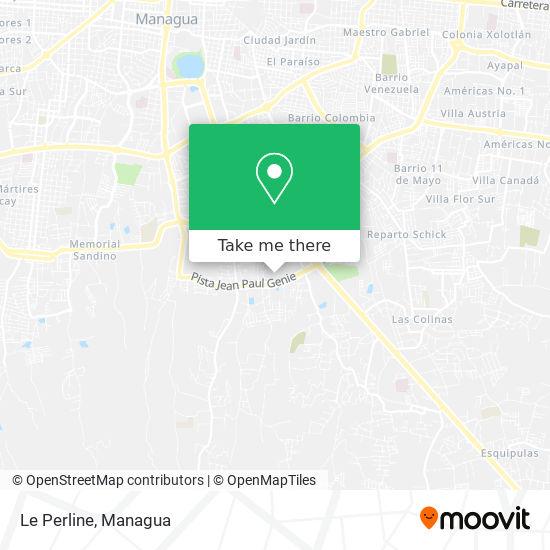 Le Perline map