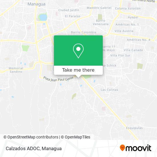 Calzados ADOC map