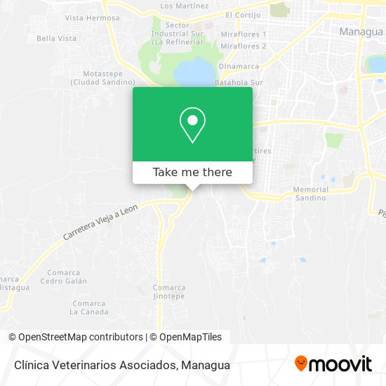 Clínica Veterinarios Asociados map
