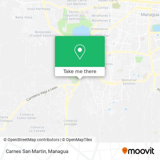 Carnes San Martin map