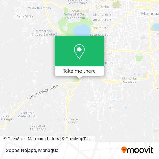 Sopas Nejapa map