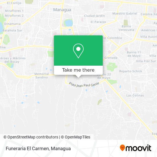 Funeraria El Carmen map