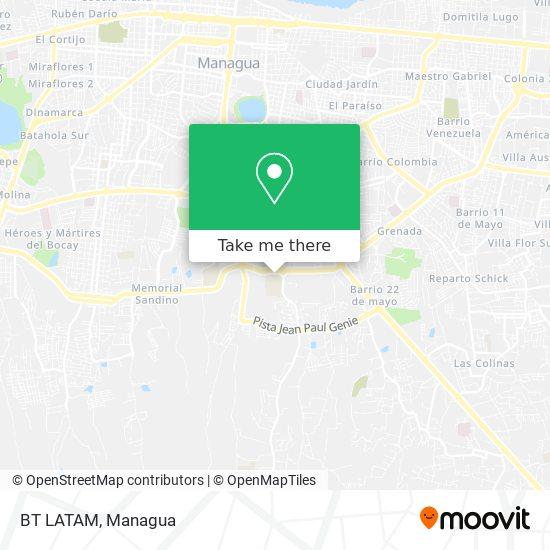 BT LATAM map