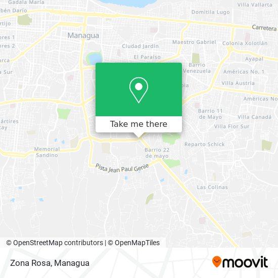 Zona Rosa map