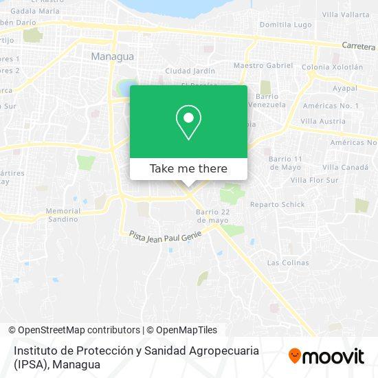 Instituto de Protección y Sanidad Agropecuaria (IPSA) map