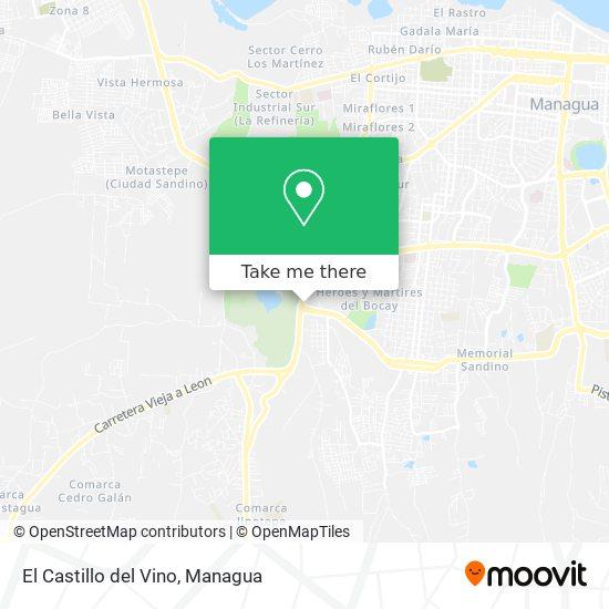 El Castillo del Vino map