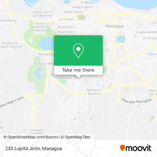 CDI Lupita Jirón map