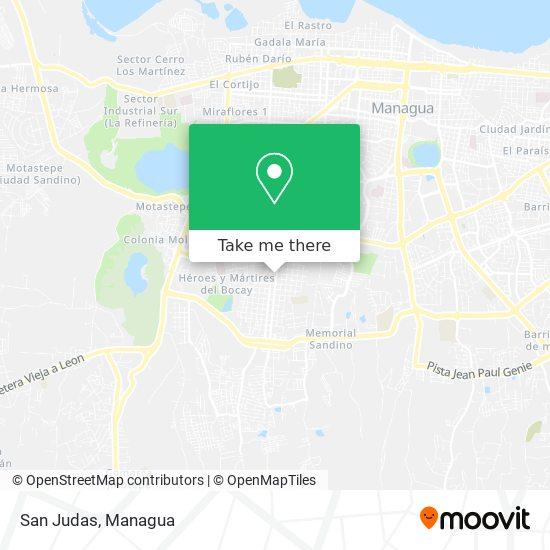 San Judas map