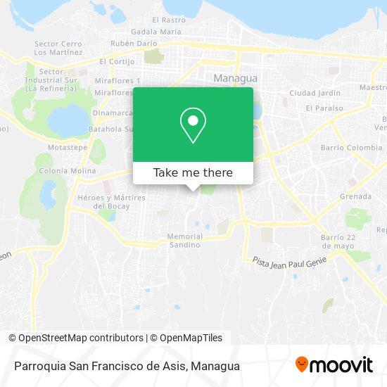 Parroquia San Francisco de Asis map