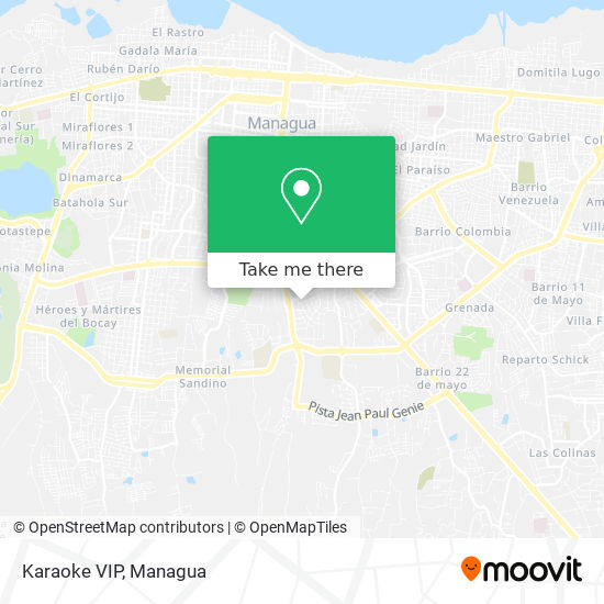 Karaoke VIP map