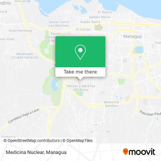 Medicina Nuclear map