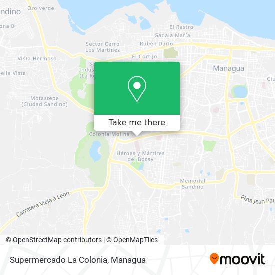 Supermercado La Colonia map