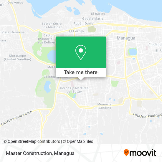 Master Construction map
