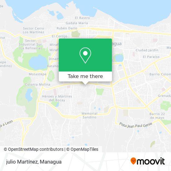 julio Martínez map