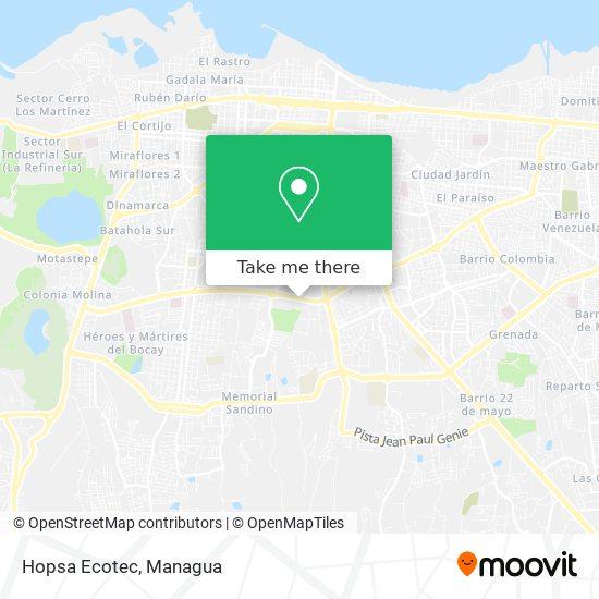 Hopsa Ecotec map