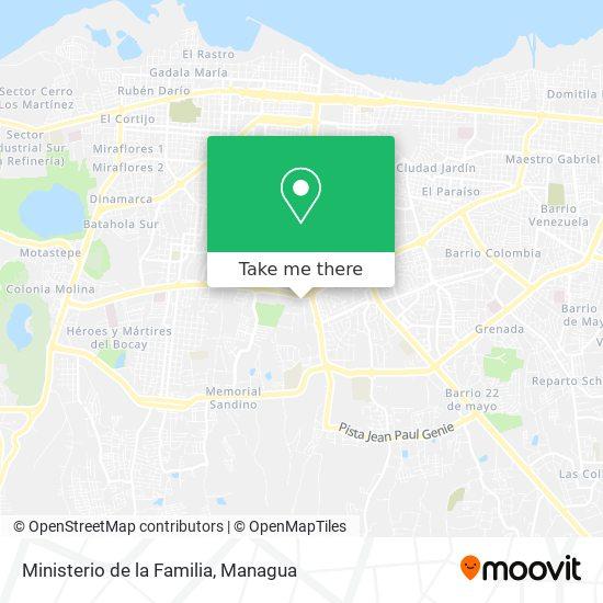 Ministerio de la Familia map