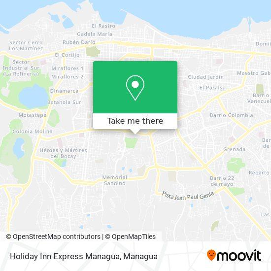 Holiday Inn Express Managua map